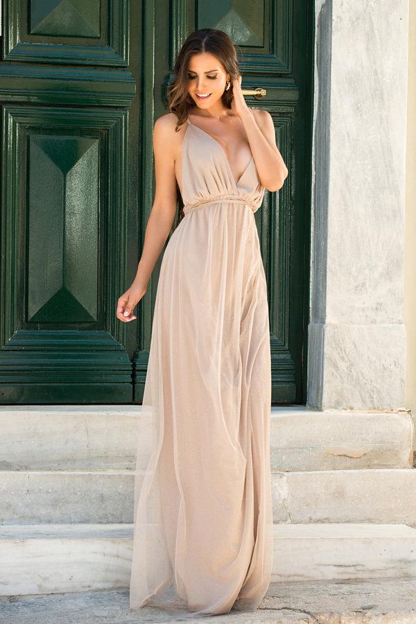 ΜΑΞΙ ΦΟΡΕΜΑΤΑ Jaina φόρεμα χρυσό