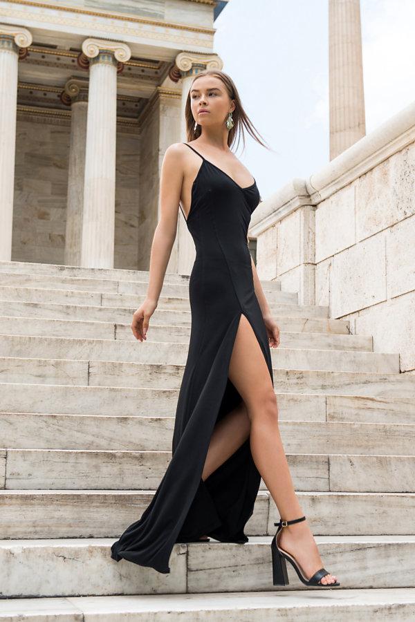ΜΑΞΙ ΦΟΡΕΜΑΤΑ Hasna φόρεμα μαύρο