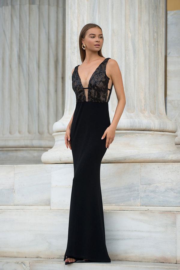 ΜΑΞΙ ΦΟΡΕΜΑΤΑ Cologne φόρεμα μαύρο