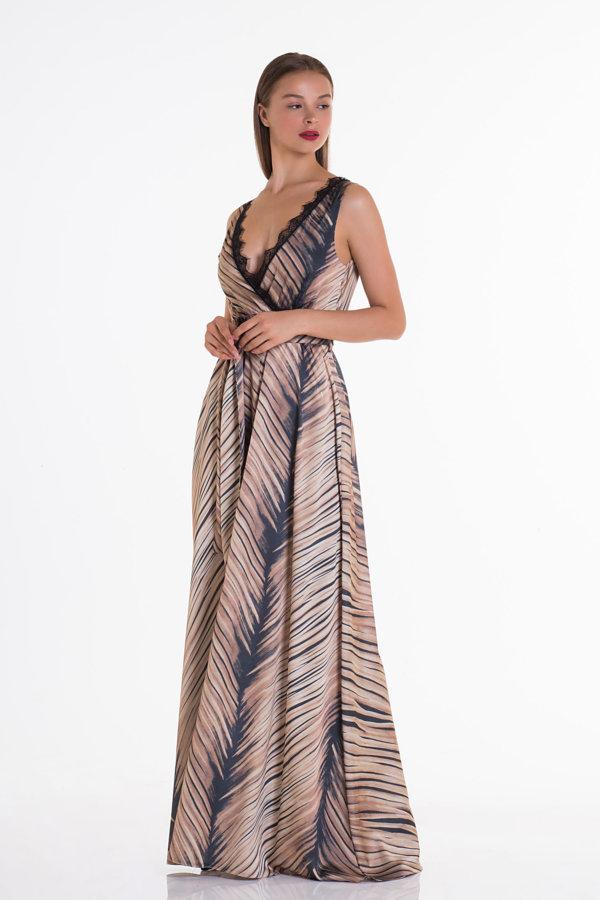 ΜΑΞΙ ΦΟΡΕΜΑΤΑ Apart Dress animal print
