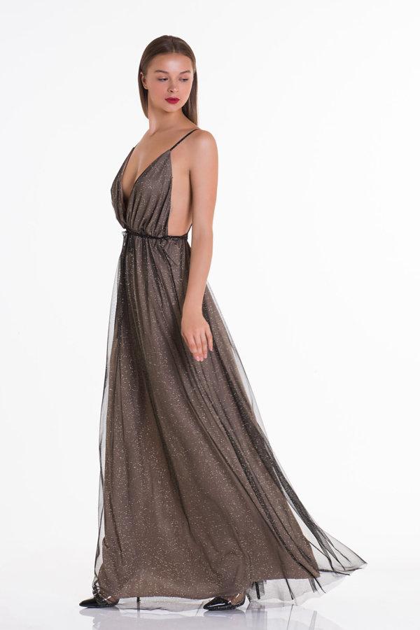 ΜΑΞΙ ΦΟΡΕΜΑΤΑ Jaina φόρεμα μαύρο