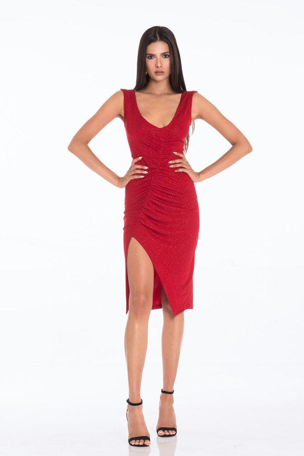 ΜΙΝΙ ΦΟΡΕΜΑΤΑ Brianna φόρεμα κόκκινο