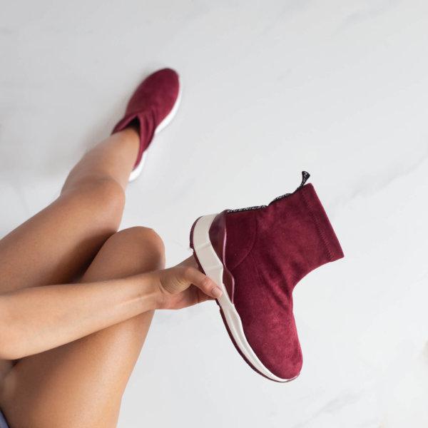 ΑΘΛΗΤΙΚΑ Birgul sneakers μπορντό