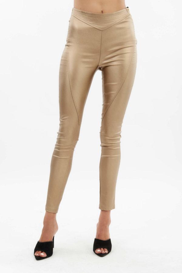 JOY COLLECTION Lourdecita παντελόνι χρυσό