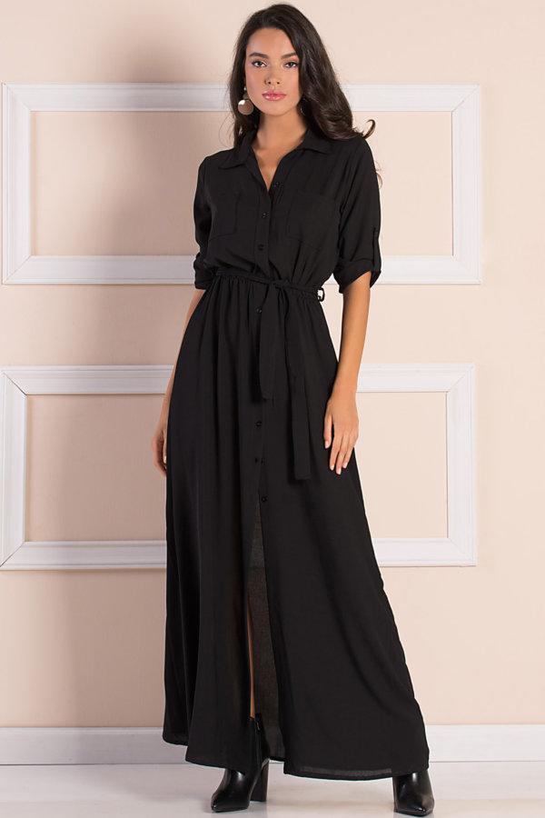 ΜΑΞΙ ΦΟΡΕΜΑΤΑ Lastis φόρεμα μαύρο