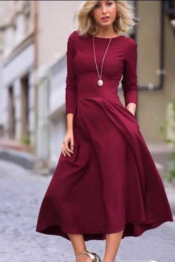 ΝΕΕΣ ΑΦΙΞΕΙΣ Perry φόρεμα μπορντό