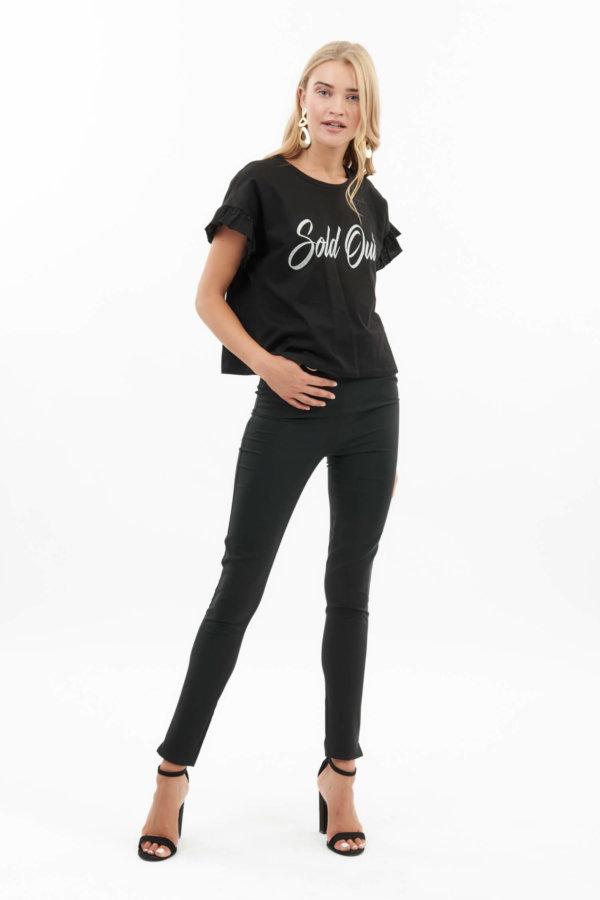 TSHIRTS Elsy t-shirt μαύρο