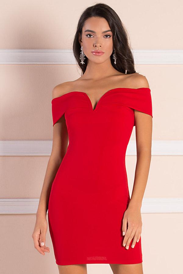 ΦΟΡΕΜΑΤΑ Elfi φόρεμα κόκκινο
