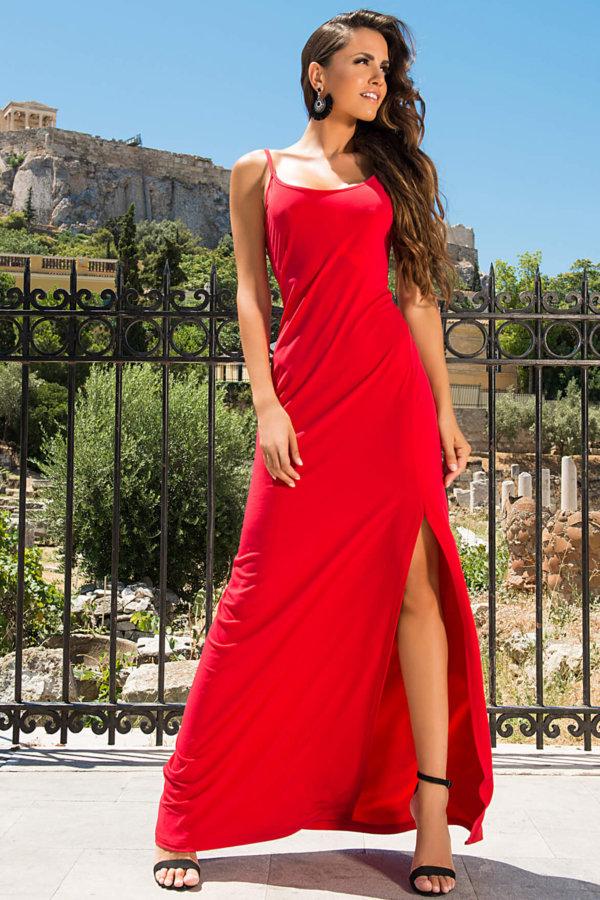 ΦΟΡΕΜΑΤΑ ΠΡΟΣΦΟΡΕΣ Emilia φόρεμα κόκκινο