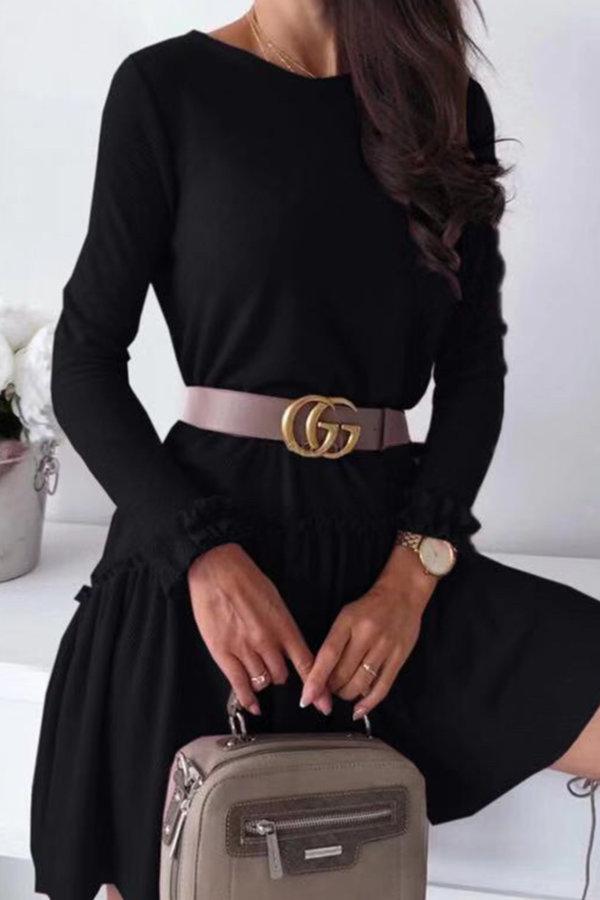 ΠΛΕΚΤΑ Loveday φόρεμα μαύρο
