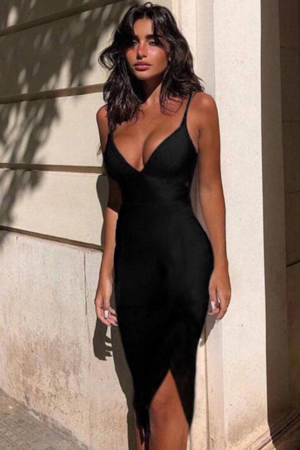 ΦΟΡΕΜΑΤΑ ΠΡΟΣΦΟΡΕΣ Caliente φόρεμα μαύρο
