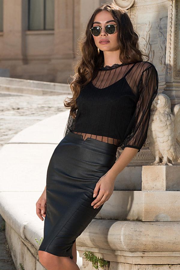 ΦΟΥΣΤΕΣ Elif φούστα μαύρο