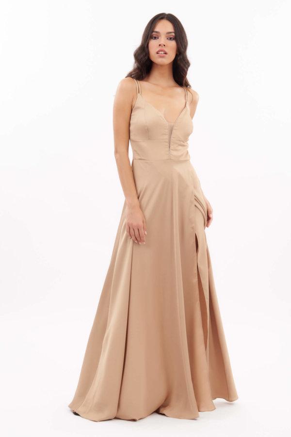 ΜΑΞΙ ΦΟΡΕΜΑΤΑ Zeynep φόρεμα χρυσό