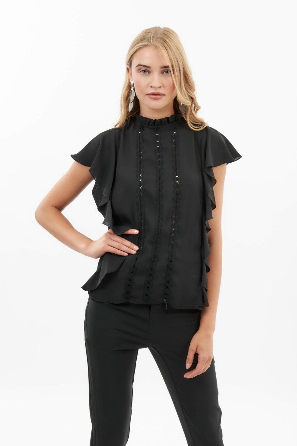 Litzy μπλούζα μαύρο