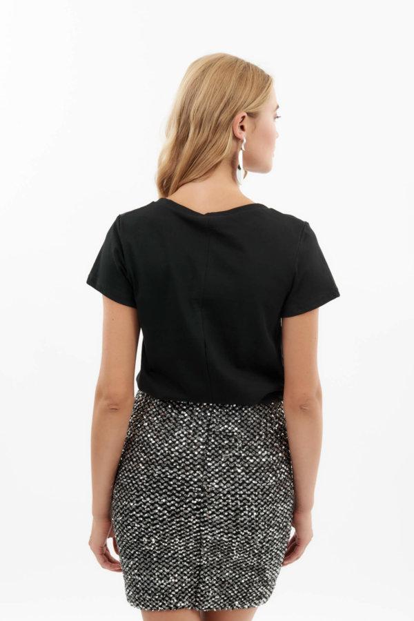 TSHIRTS Devany t-shirt μαύρο