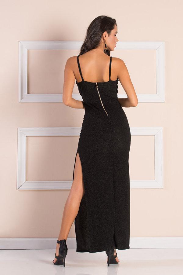 ΜΑΞΙ ΦΟΡΕΜΑΤΑ Pavo φόρεμα μαύρο
