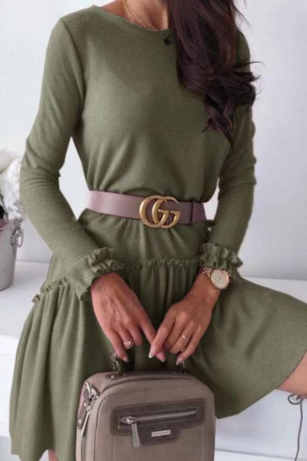 ΠΛΕΚΤΑ Loveday φόρεμα πράσινο