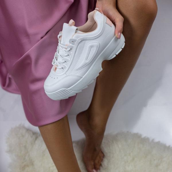 ΑΘΛΗΤΙΚΑ Creme sneakers ροζ
