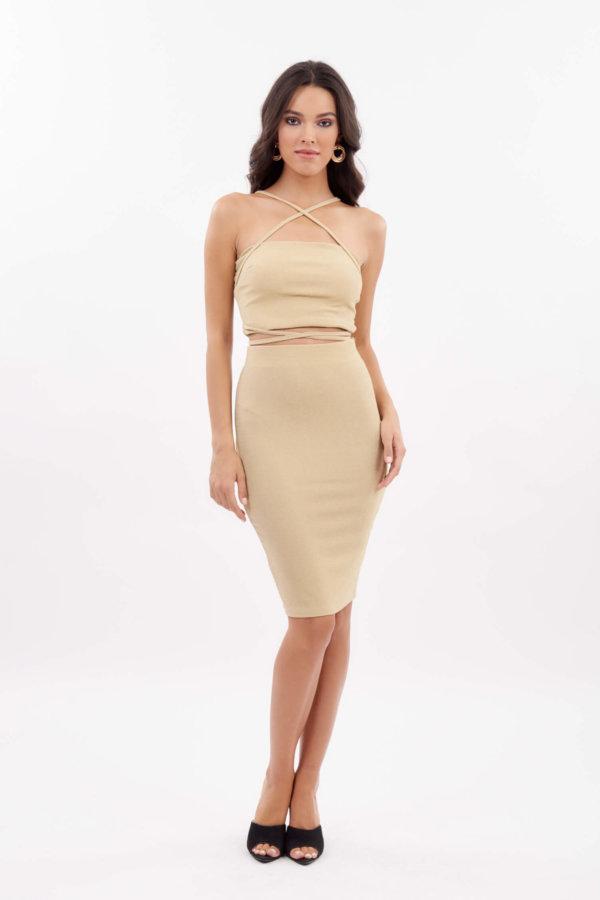 ΣΕΤ Acantha φούστα χρυσό