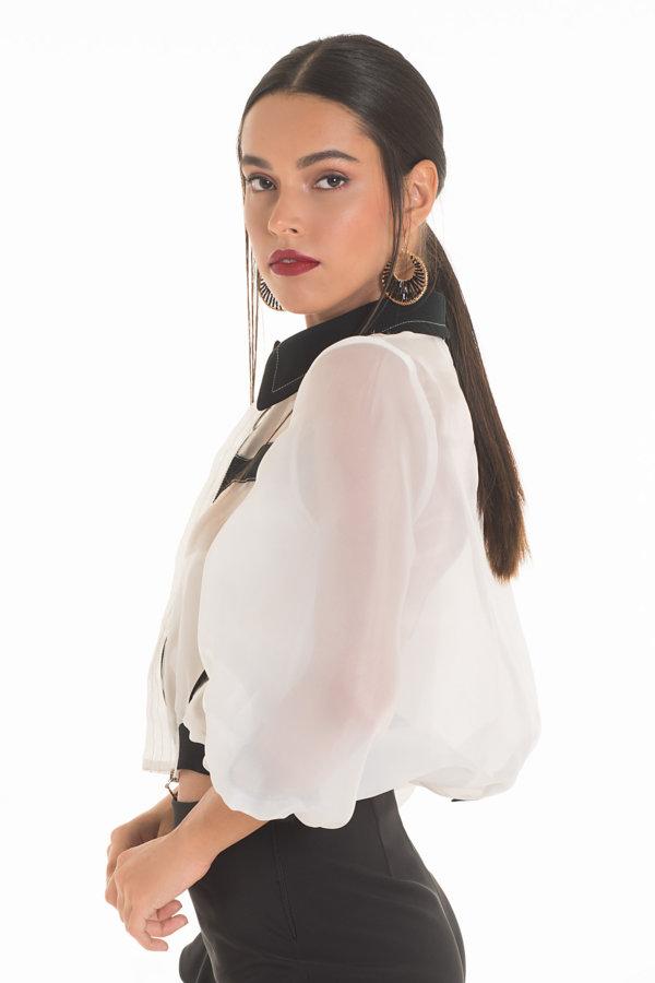 ΠΑΝΩΦΟΡΙΑ Bagheera jacket λευκό