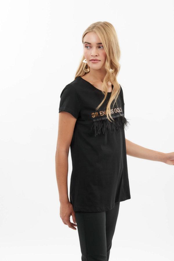 TSHIRTS Eimy t-shirt μαύρο