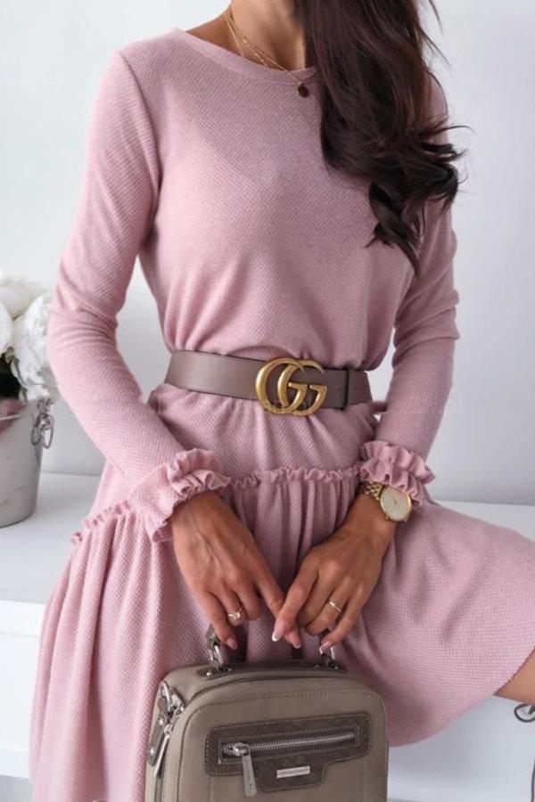 ΠΛΕΚΤΑ Loveday φόρεμα ροζ