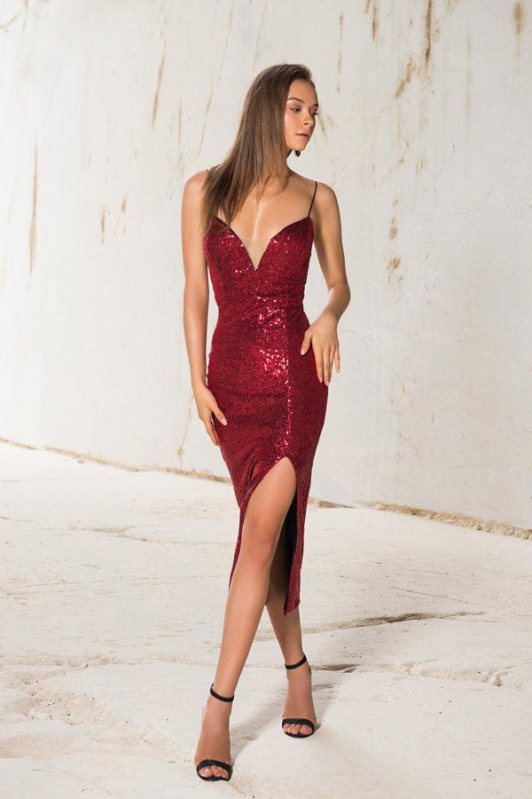 Προσφορές σε φορέματα Summer dance φόρεμα κόκκινο