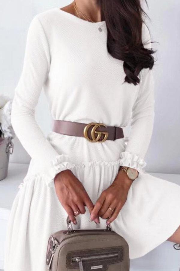 ΠΛΕΚΤΑ Loveday φόρεμα λευκό