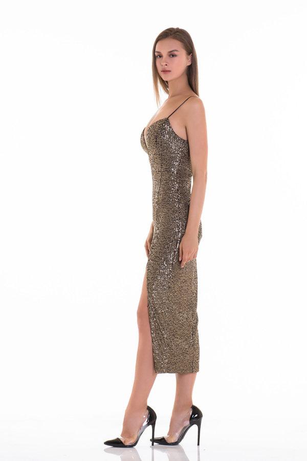 Προσφορές σε φορέματα Summer dance φόρεμα χρυσό