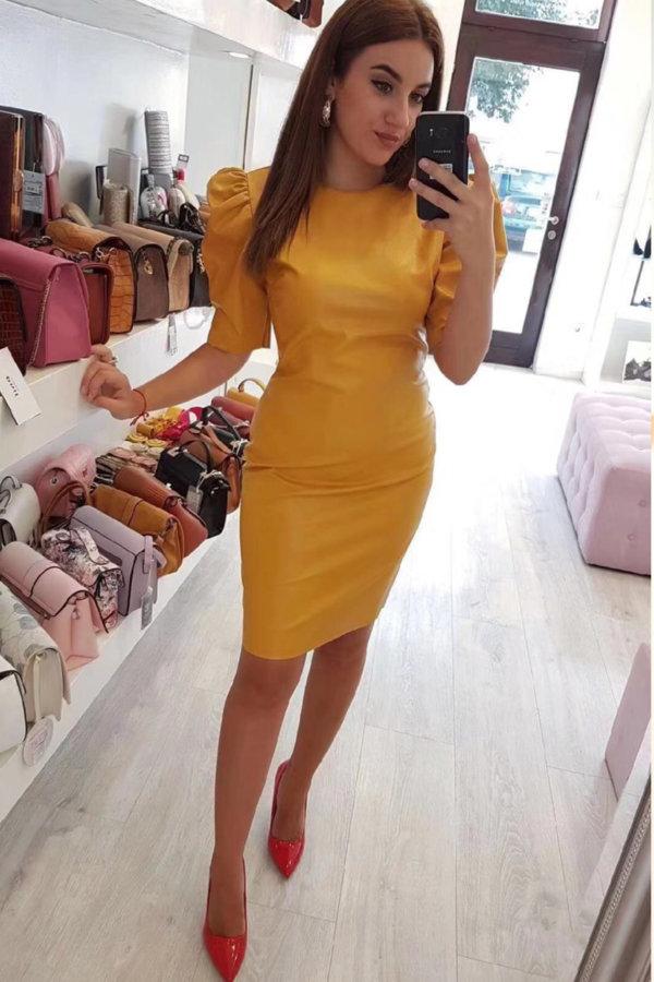 ΜΙΝΤΙ ΦΟΡΕΜΑΤΑ Zaylee φόρεμα ώχρα