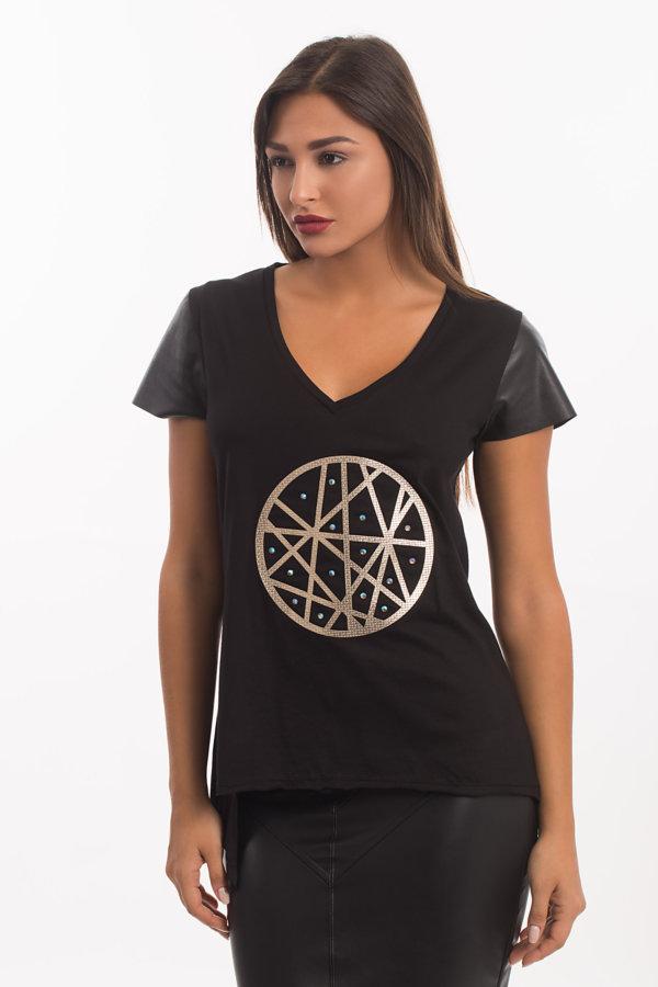 ΤΟΠ Anastasia t-shirt μαύρο