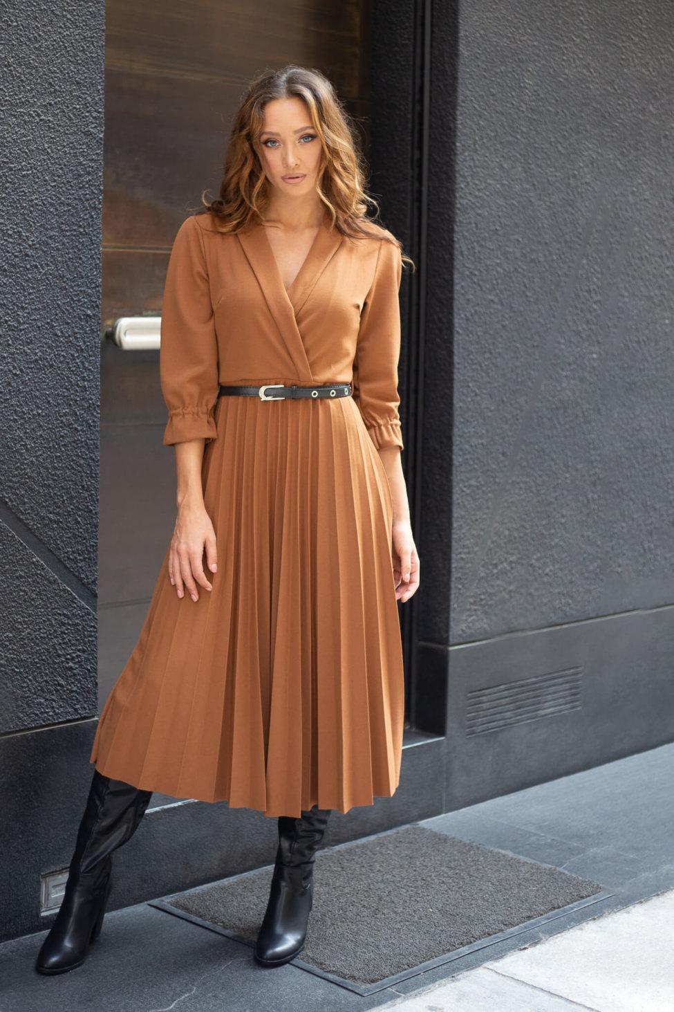Vizsla φόρεμα κεραμιδί
