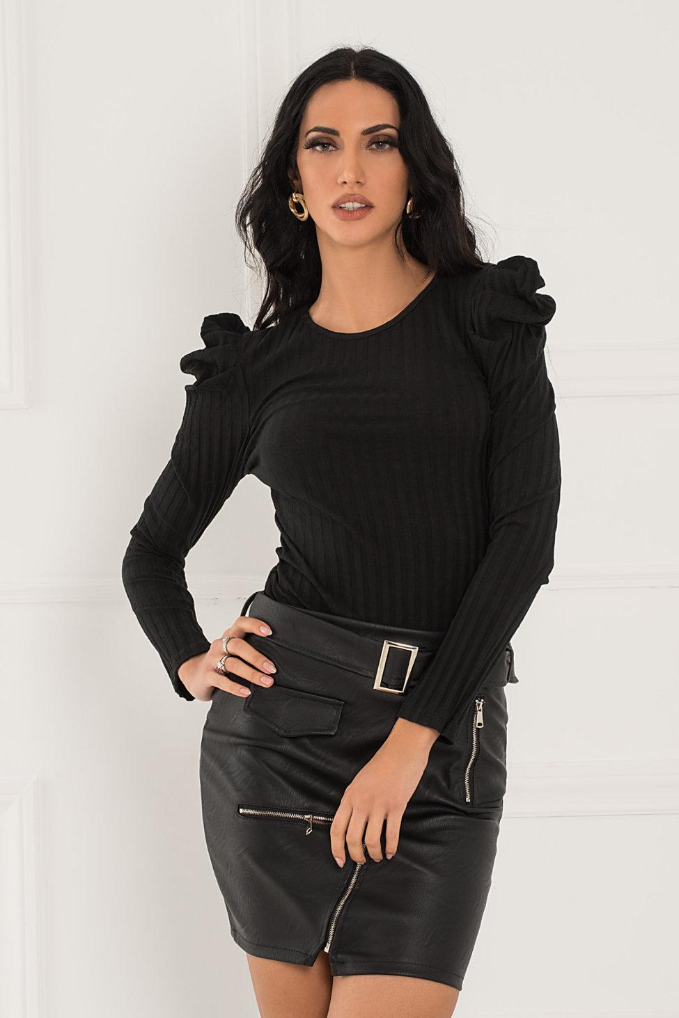 Pirro μπλούζα μαύρο