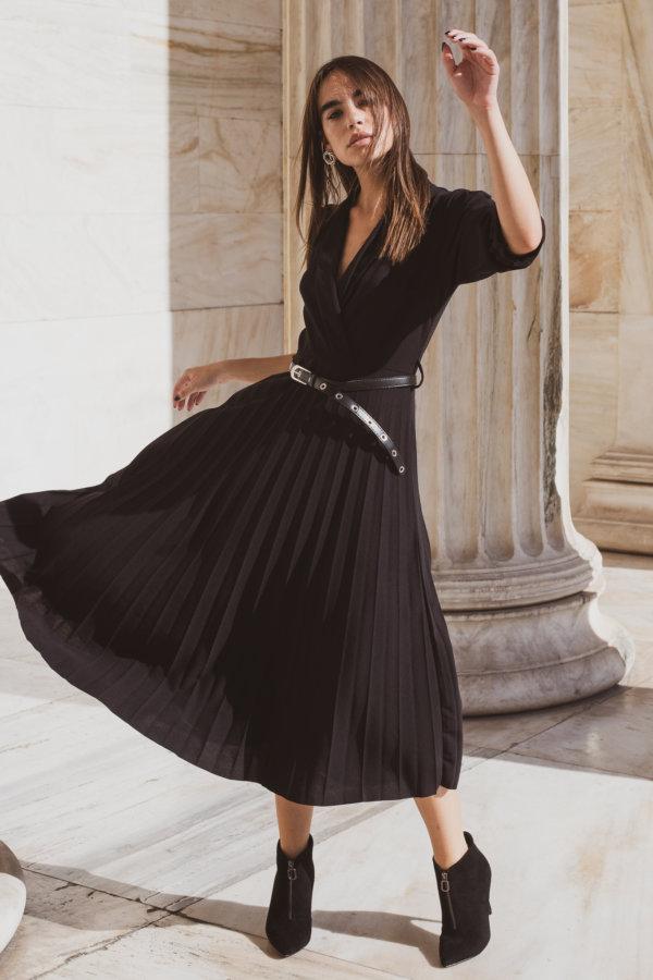 ΜΑΞΙ ΦΟΡΕΜΑΤΑ Vizsla φόρεμα μαύρο
