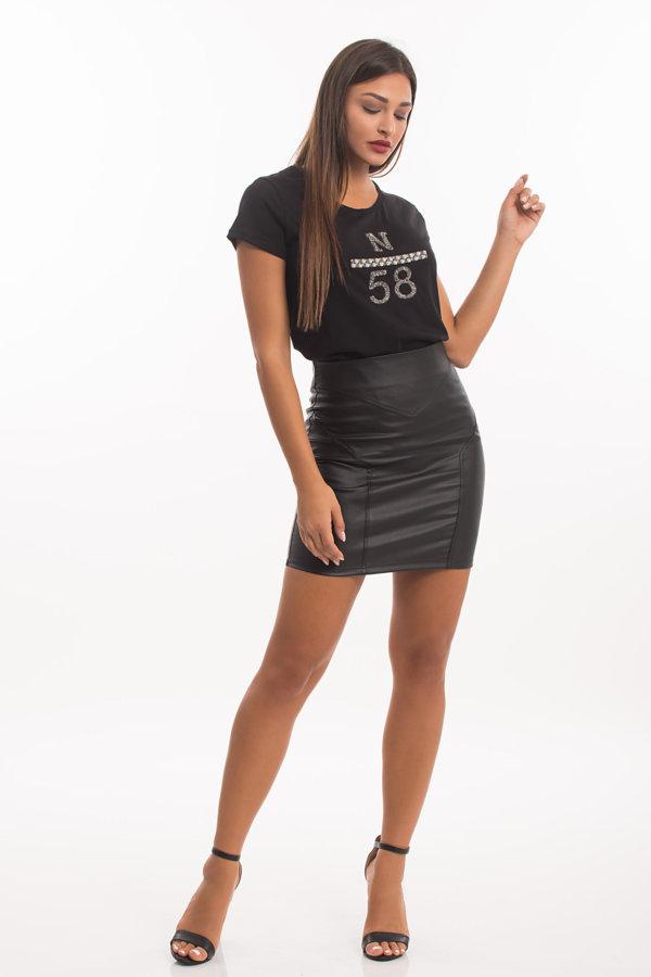 ΤΟΠ Aleyna t-shirt μαύρο