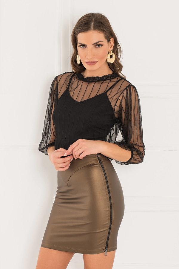 ΦΟΥΣΤΕΣ Derya φούστα χρυσό