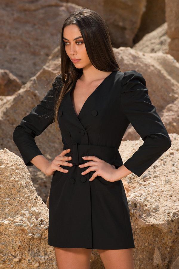 ΜΙΝΤΙ ΦΟΡΕΜΑΤΑ Agostina φόρεμα μαύρο
