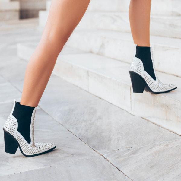 ΠΑΠΟΥΤΣΙΑ Arinka ankle boots λευκό