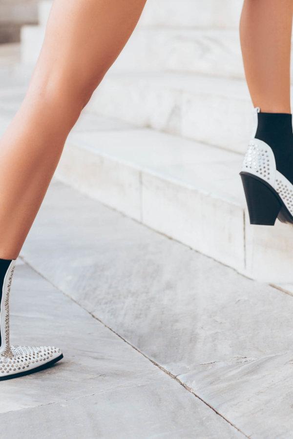 ΜΠΟΤΑΚΙΑ Arinka ankle boots λευκό