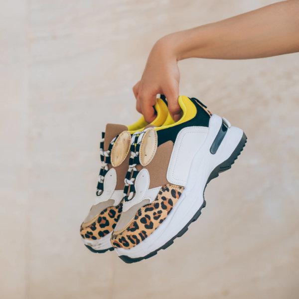 ΑΘΛΗΤΙΚΑ Celestia sneakers λεοπάρ