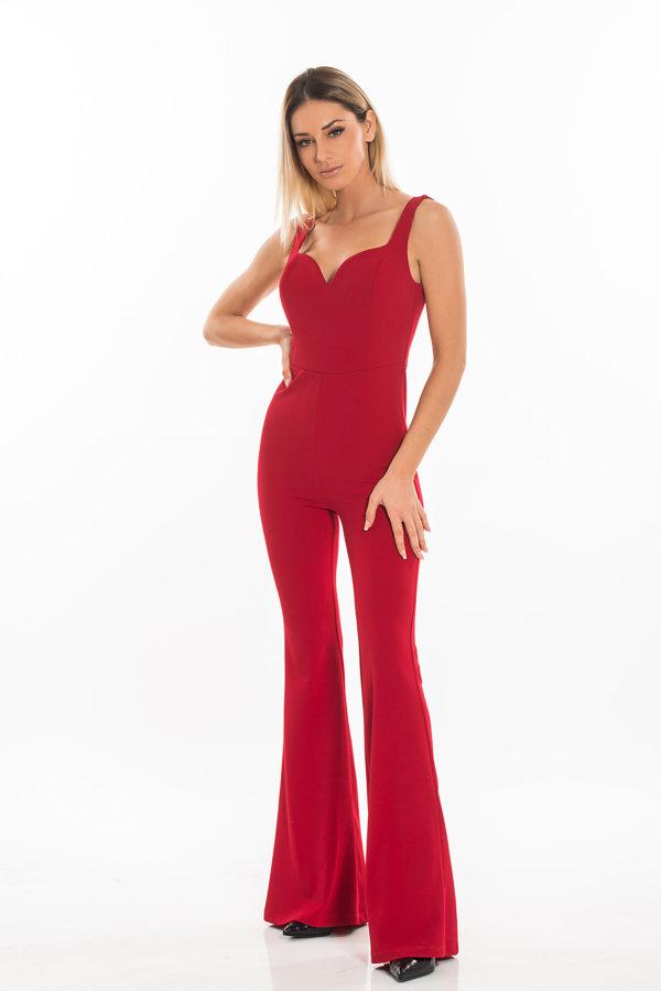 ΟΛΟΣΩΜΕΣ ΦΟΡΜΕΣ Arina ολόσωμη φόρμα κόκκινο