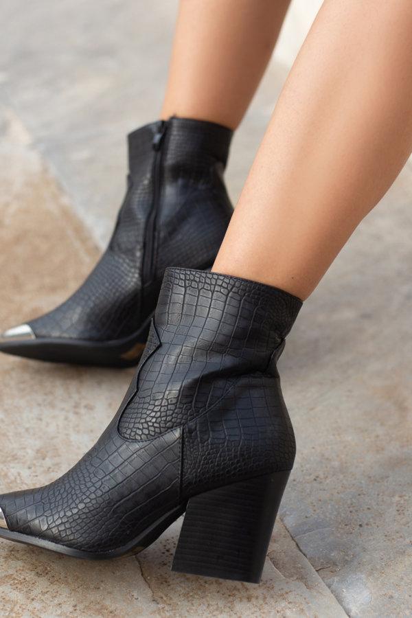 ΜΠΟΤΑΚΙΑ Amalie ankle boots μαύρο