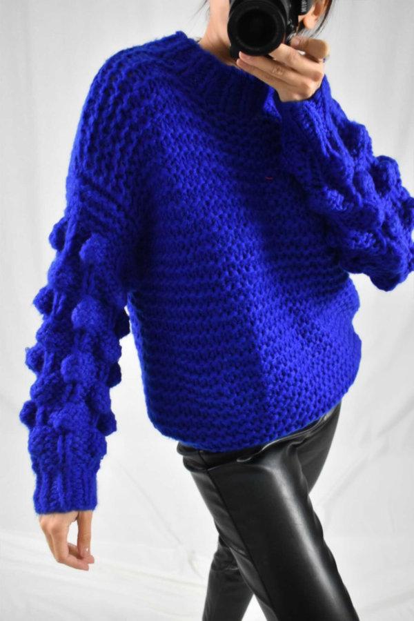 ΠΛΕΚΤΑ Arlene πλεκτό μπλε