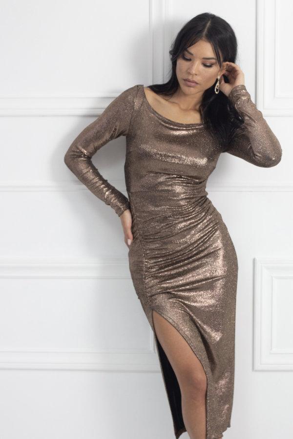 ΜΑΞΙ ΦΟΡΕΜΑΤΑ Gasha φόρεμα μπρονζέ