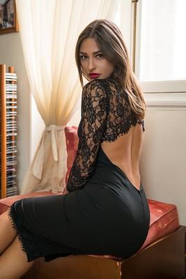 Alain φόρεμα μαύρο