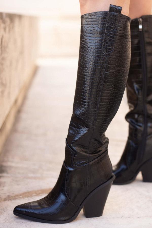 ΜΠΟΤΕΣ Kady boots μαύρο