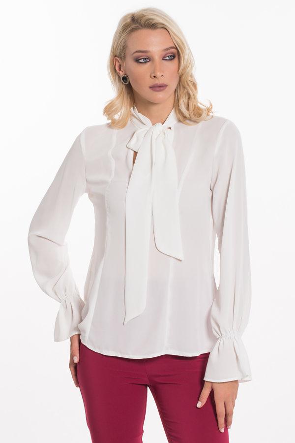 ΠΟΥΚΑΜΙΣΑ Darina μπλούζα λευκό