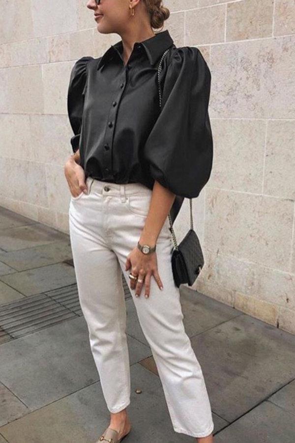 ΠΟΥΚΑΜΙΣΑ Belle epoque πουκάμισο μαύρο