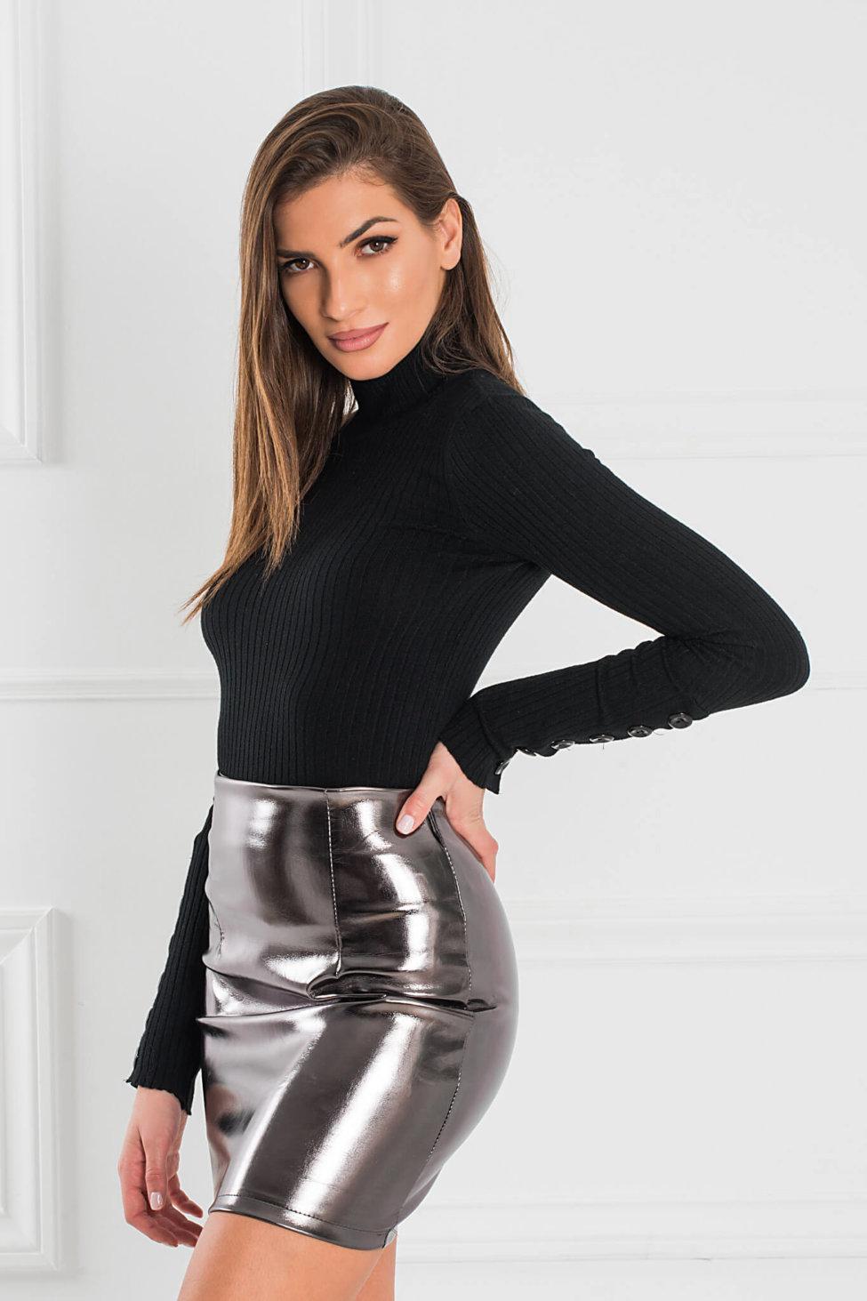 Zenna φούστα ασημί