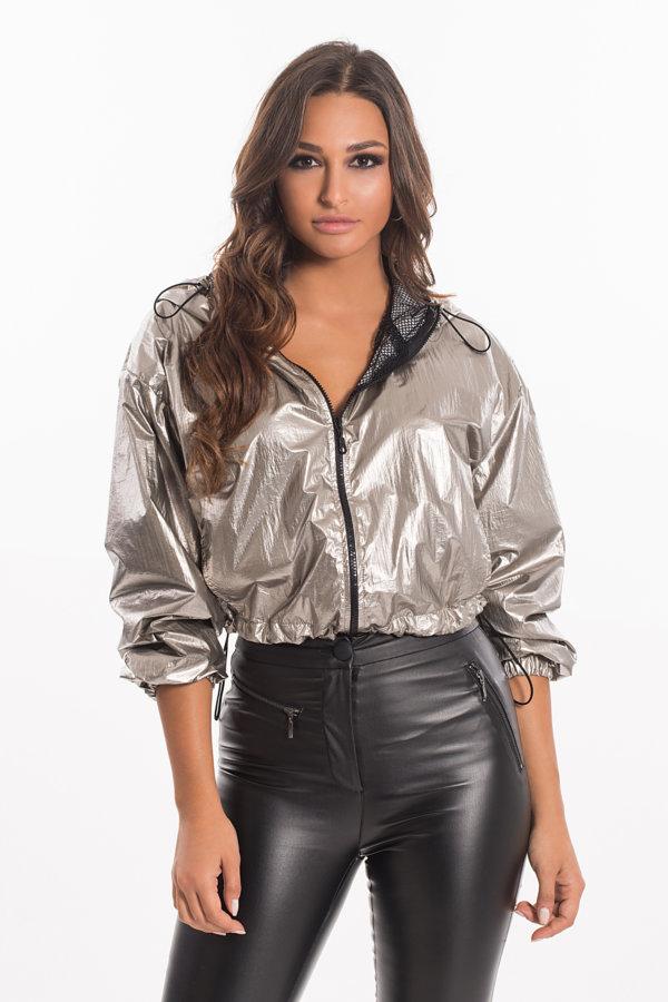 ΜΠΟΥΦΑΝ Mugler bomber jacket ασημί